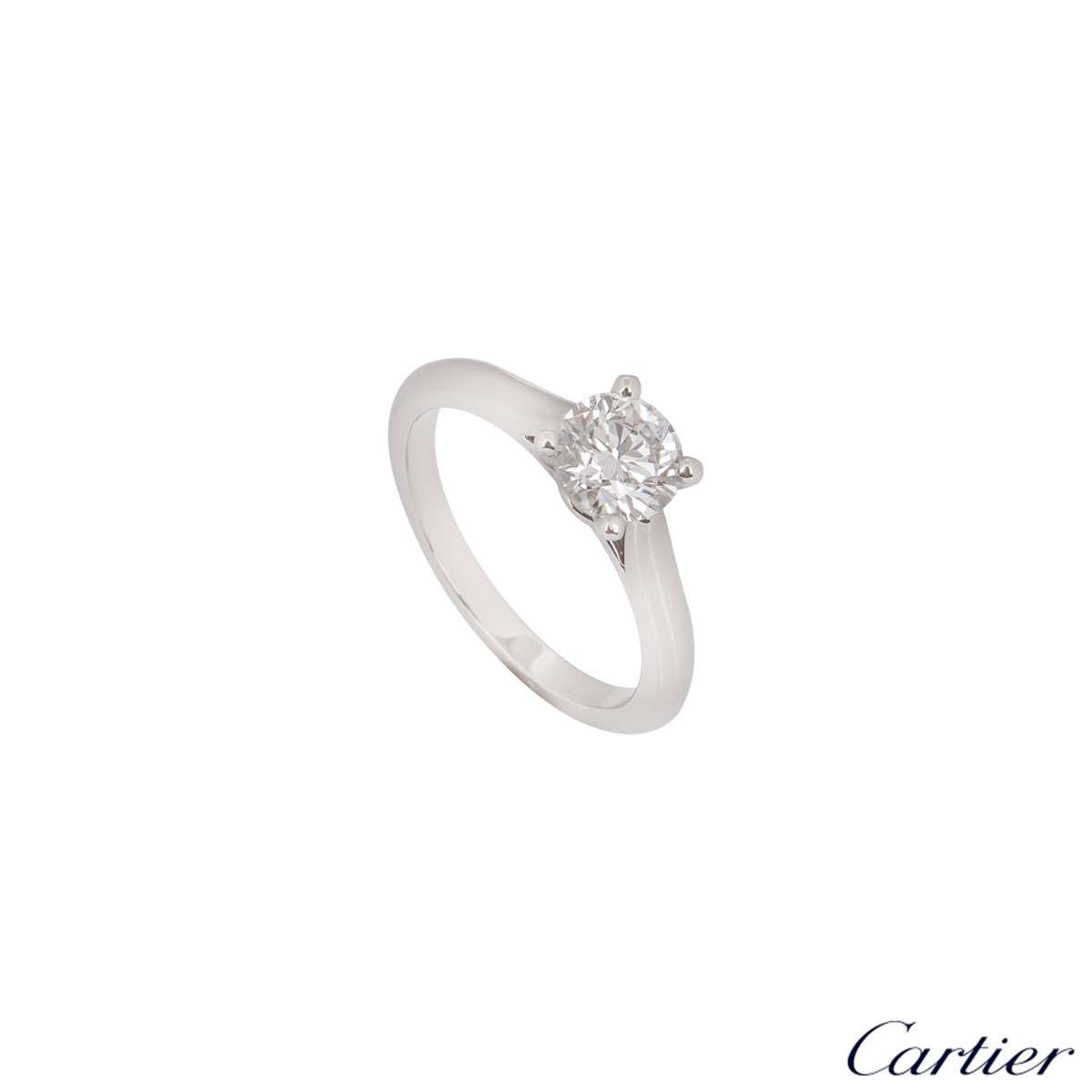 Cartier 1895 Platinum Diamond Ring 1.10ct F/VS1 XXX N4162955